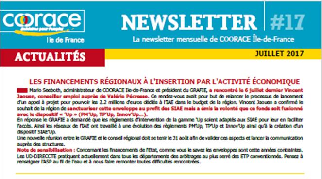 Newsletter – Juillet 2017