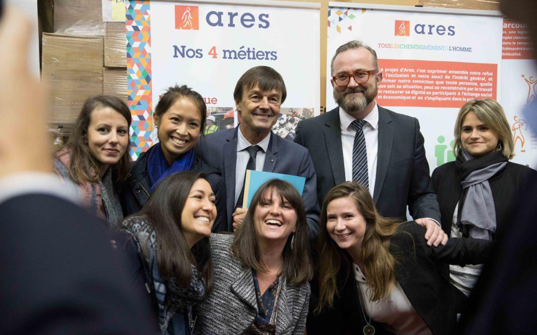 Ateliers Sans Frontière inaugure ses nouveaux locaux en compagnie de Nicolas Hulot, Ministre de la Transition Ecologique et Solidaire