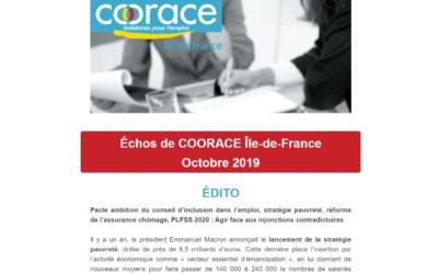 Newsletter – Octobre 2019